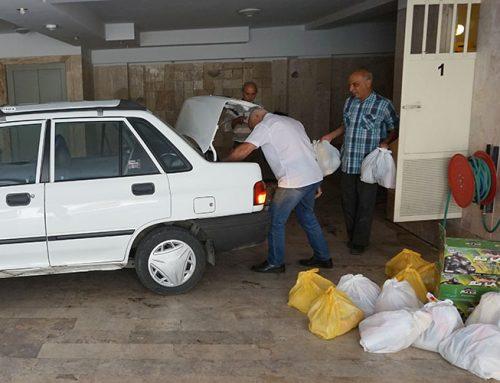 توزیع بسته خواروبار ویژه ماه رمضان