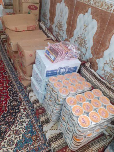 توزیع بسته های غذای شهرستان فنوج